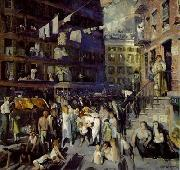 Cliff Dwellers , 1913, oil on canvas. Los Angeles County Museum of Art, George Wesley Bellows