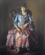 Painting: Emma in a Purple Dress, George Wesley Bellows