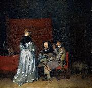 Three Figures conversing in an Interior, known as The Paternal Admonition