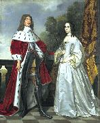 Double portrait of Friedrich Wilhelm I (1620- 1688) and Louise Henriette (1627-1667).