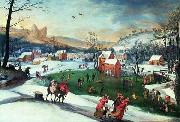 Gillis Mostaert Winter landscape with the flight into Egypt oil painting