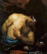 Giovanni Battista Langetti Suicide of Cato the Younger oil painting reproduction