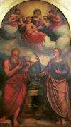 Girolamo Troppa Madonna and Child in glory with oil painting artist