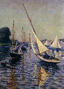 Regatta at Argenteuil, Gustave Caillebotte