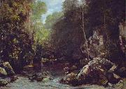 Gustave Courbet Le ruisseau noir oil painting reproduction