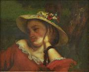 Woman with Flowers in her Hat