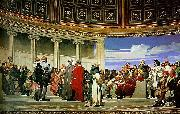 Hippolyte Delaroche section 3 of the Hemicycle oil painting artist