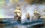 Ivan Aivazovsky Two Turkish Ships oil painting reproduction