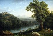 Jacob Philipp Hackert River Landscape oil painting reproduction
