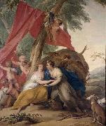 Jacob de Wit Jupiter disguised as Diana oil painting reproduction