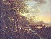 Italian landscape with draughtsman.