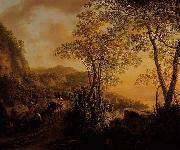 Jan Both Italian landscape. oil painting reproduction
