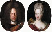 Jan Frans van Douven Johann Wilhelm von Neuburg with his wife Anna Maria Luisa de' Medici oil painting