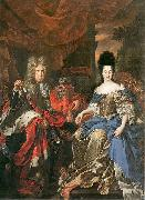 Jan Frans van Douven Double portrait of Johann Wilhelm von der Pfalz and Anna Maria Luisa de' Medici oil painting