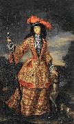 Jan Frans van Douven Anna Maria Luisa de' Medici in hunting dress oil painting