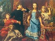 Portrait of the artist's four children., Jan Matejko