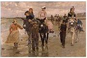 Jan Verhas Ezelrit op het strand oil painting reproduction