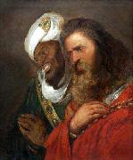 Jan lievens Saladin and Guy de Lusignan oil painting on canvas