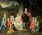 Johann Zoffany Grand Duke Pietro Leopoldo of Tuscany with his Family oil painting on canvas