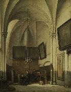The vestry of St. Stevens Church in Nijmegen, Johannes Bosboom