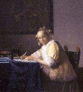 A lady writing., Johannes Vermeer
