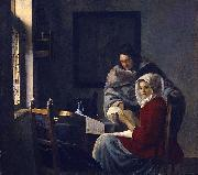 Girl interrupted at her music., Johannes Vermeer