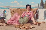 quiet pet, John William Godward