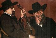 Jozsef Rippl-Ronai My Father and Lajos with Violin oil painting reproduction