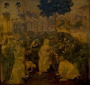 Adoration of the Magi, LEONARDO da Vinci
