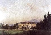 Painting of Castle Harbach in the 19th century, Markus Pernhart