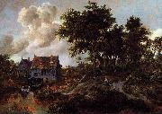 Meindert Hobbema A Watermill beside a Woody Lane oil painting on canvas