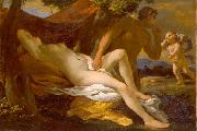 Nicolas Poussin of either Jupiter and Antiope or Venus and Satyr