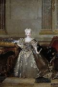 Portrait of the Mariana Victoria of Spain, Infanta of Spain and future Queen of Portugal; eldest daughter of Philip V of Spain and his second wife Eli, Nicolas de Largilliere
