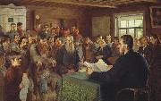 Nikolai Petrovitch Bogdanov-Belsky Sunday Reading in Rural Schools oil painting