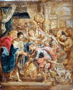 Peter Paul Rubens The Reconciliation of King Henry III and Henry of Navarre oil painting on canvas