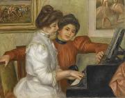 Pierre Auguste Renoir Yvonne et Christine Lerolle au piano oil painting reproduction