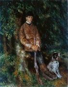Portrait of Alfred Berard with His Dog, Pierre Auguste Renoir