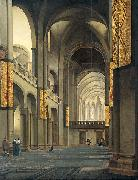 Pieter Jansz. Saenredam The nave and choir of the Mariakerk in Utrecht, seen from the west. oil painting