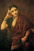 Raja Ravi Varma Expectation oil painting reproduction