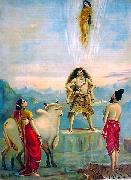 Ganga vatram or Descent of Ganga, Raja Ravi Varma