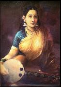Lady with Swarbat, Raja Ravi Varma