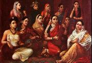 Raja Ravi Varma Galaxy of Musicians oil painting
