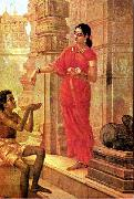 Lady Giving Alms, Raja Ravi Varma