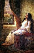In Contemplation, Raja Ravi Varma