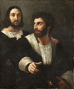 Raphael Self portrait with a friend oil painting on canvas