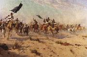 The Flight of the Khalifa after his defeat at the battle of Omdurman, 2nd September 1898, Robert Talbot Kelly