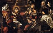 SERODINE, Giovanni Christ among the Doctors oil painting