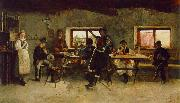 Simon Hollosy Carousing in the Tavern oil painting