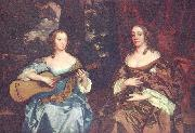 Sir Peter Lely Zwei Damen der Familie Lake oil painting reproduction