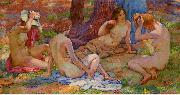 Four Bathers, Theo Van Rysselberghe